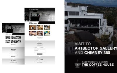 ArtSector Gallery & Chimney Café 360º travel and Coffeeshop website design