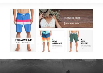 swimwear website design
