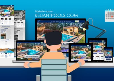 Website Makeover for Reliant Pools